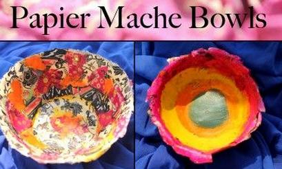 Paper Mache Bowls Craft