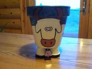 Cow Flower Pot Project