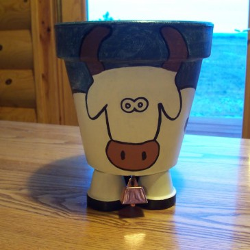 Cow Flower Pot Craft Class Starts Tuesday, May 26, 2015