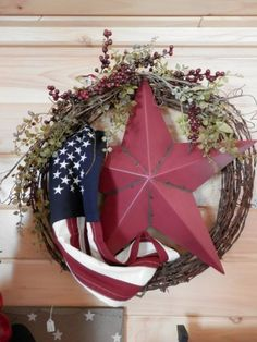 Tuesday, June 14 – Craft Class: Patriotic Barbed-Wire Wreath